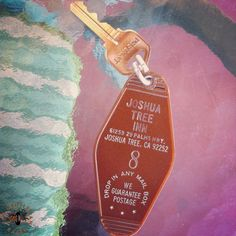 The key to the Gram Parsons room at the Joshua Tree Inn