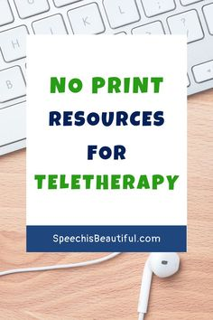 When you are doing teletherapy on the Zoom platform, no print resources are essential. I've compiled a list of no print speech therapy materials created by me and other SLPs. Includes both English and Spanish speech therapy resources. - Speech is Beautiful