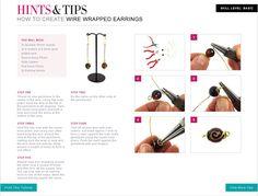 Jewellery tutorial - Create Wire Wrapped Earrings.