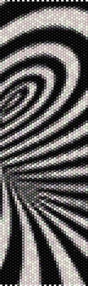 BPBS0006 Black Swirl Even Count Single Drop Peyote von greendragon9
