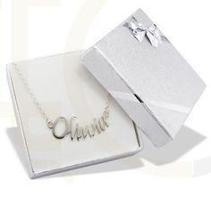 Naszyjnik srebrny z Twoim imieniem/ Silver necklace with your name on it / 105 PLN #jewellery #jewelry #necklace #silver #bizuteria #naszyjnik #srebro