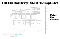 danielle oakey interiors: Free Gallery Wall Template!