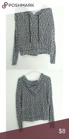 Lightweight Marled Hoodie Lightweight grey and white marled hoodie with black strings. Runs a little small in my opinion If you have any questions, feel free to leave them in the comments! ❀ Say What? Tops Sweatshirts & Hoodies