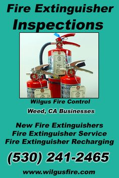Fire Extinguisher Inspections Weed CA (530) 241-2465 Discover the Complete Source for Fire Protection Equipment and Service.. We're Wilgus Fire Control!! Call us Today!
