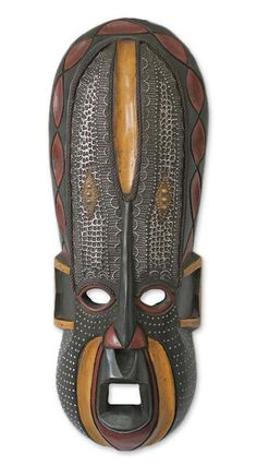 Ghanaian wood mask - Akan Beauty - NOVICA