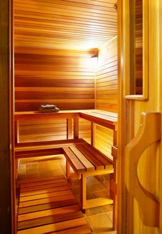 Sauna in Alpine Meadows Chalet, Luxury home rental in Mont Tremblant Quebec with Tremblant Living