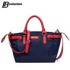 Bostanten Luxury Handbags Women Bags Designer Nylon Casual Tote Casual Blue Zipper Satchel Personalized Tote Bags Shoulder Bags