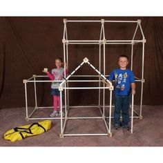 Discovery Kids Build u0026 Play Construction Fort One Size  sc 1 st  Pinterest & Set your childu0027s imagination free with this 77-piece fort play ...