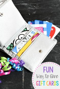 Creative Gift Card Holder Ideas-Gift Card Wallet. This is such a fun way to give gift cards. #birthday #birthdaygift #giftidea