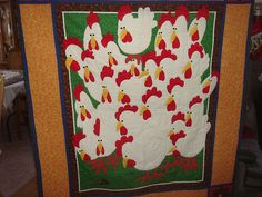 Chicken quilt by robleto, via Flickr