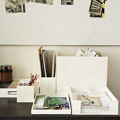 Lacquer Office | West Elm - pretty desktop organization