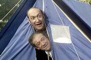 Carry on Camping. Bernard Breslaw and Sid James.