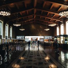 In case you didn't know this gorgeous train station is hidden in #DTLA. I love trying new ways to avoid LA traffic  Next up helicopter.