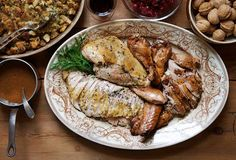 David Tanis' Deconstructed Turkey - the best turkey recipe hands down! Roasted Turkey and Braised Turkey