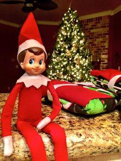 Arthur brought the boys new Christmas pajamas! #elfontheshelf