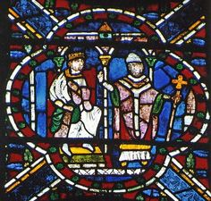 Canterbury Cathedral - Henry II with Archbishop Thomas Becket - 12th century