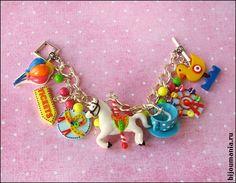 """Bracelet """"the Amusement Park"""" by russian artisan Allim-Lip."""