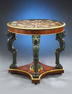 This Regency rosewood specimen table bears an astounding 128 samples of rare marble, circa 1820 ~ M.S. Rau Antiques