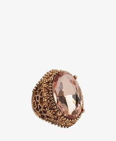 FOREVER 21 - Oval rhinestone ring