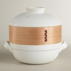 One of my favorite discoveries at WorldMarket.com: Ceramic Clay Pot with Bamboo Steamer