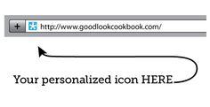 make your own icon (fauvicon).  http://www.goodlookcookbook.com/2011/04/make-favicon.html