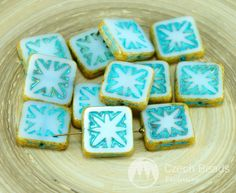 ✔ What's Hot Today: Picasso White Turquoise Blue Table Cut Window Czech Glass Flat Square Beads 14mm 6pcs https://czechbeadsexclusive.com/product/picasso-white-turquoise-blue-table-cut-window-czech-glass-flat-square-beads-14mm-6pcs/?utm_source=PN&utm_medium=czechbeads&utm_campaign=SNAP #CzechBeadsExclusive #czechbeads #glassbeads #bead #beaded #beading #beadedjewelry #handmade