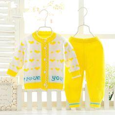 Roupas para os recém-nascidos Do Bebê roupas de menina definir camisolas do bebê Recém-nascido Infantil outerwear Bebê camisola Criança cardigan dois-peça CC063