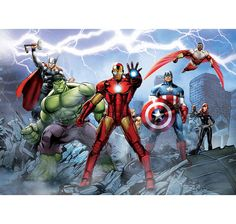 The Avengers Fototapete Comic. Maße: 232x158 cm. Hier bei www.closeup.de