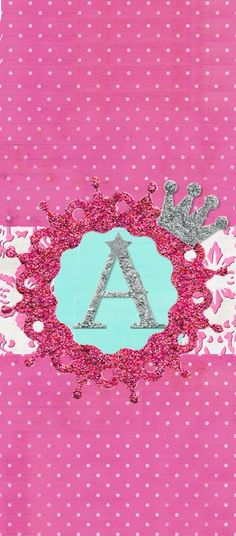Royally Pink Monogram 'A' -Cutest iPhone