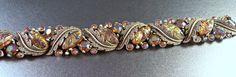 Rhinestone Enamel Bracelet HAR Style Enamel by LynnHislopJewels