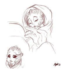 Human-Turian Baby Concept Art - pretty cute really <3