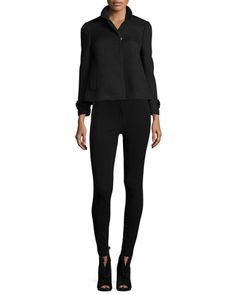 Long-Sleeve Mesh Jacket & Low-Rise Leggings W/Racing Strip by Burberry London at Neiman Marcus.
