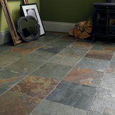 Slate Tiles, Slate Floor Tiles - Black & Natural   Fired Earth