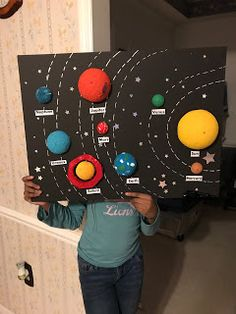 My Daughters Solar System Project Solar System Model Project, Solar System Science Project, Solar System Projects For Kids, Solar System Crafts, Space Theme Classroom, Outer Space Crafts, Space Activities For Kids, School Science Projects, Planet Project