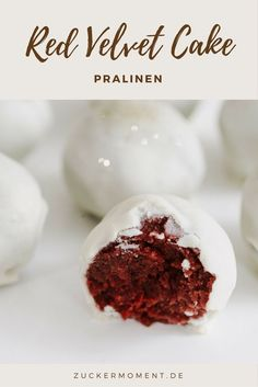 """""""Red Velvet Cake"""" Pralinen mit einem Schuss Sekt, Herz und Prickeln - Zuckermoment * Geschenke aus der Küche"""