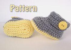 Crochet pattern  Baby booties crochet pattern   Instant by MissCro