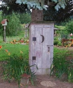 I want a outhouse in my yard!