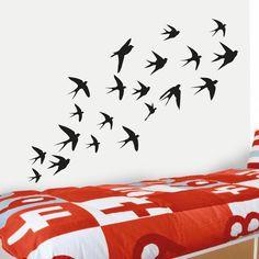 Pássaros a voar vinil autocolante de parede