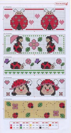 Lady bugs cross stitch