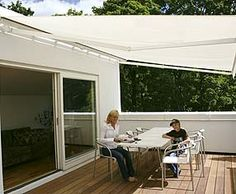 nice inside/outside flow and contempoary awning