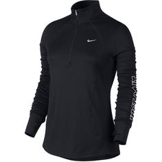 Nike Racer Long-Sleeve Half-Zip Top ($65) ❤ liked on Polyvore featuring activewear, turtleneck top, long sleeve turtleneck, nike sportswear, nike activewear and long sleeve turtleneck top