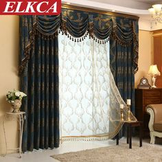 House Remodel Budget Chenille Embroidered European Royal Luxury Amazing Luxury Curtains For Living Room Design Inspiration
