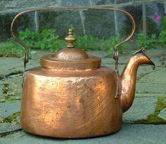 Antique Copper Tea Kettle         ****