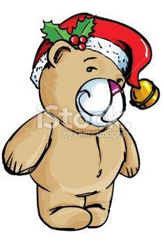 Cartoon Christmas teddy Royalty Free Stock Vector Art Illustration Christmas Cartoon Pictures, Christmas Cartoons, Free Vector Art, Bowser, Illustration, Royalty, Fictional Characters, Royals, Illustrations