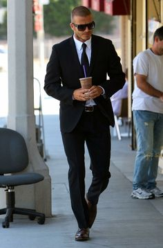 Suit style by David Beckham