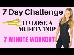 7 Day Challenge: Home Workouts to Lose Your Muffin Top: 7 moves, 7 minutes, 7 days to flat belly and lose muffin top, body stretch 7 Min Workout, Abs And Obliques Workout, Best Ab Workout, Workout Videos, Workout Plans, Workout Gear, Lose Muffin Top, Cardio, Muffin Top Exercises