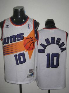 Mitchell   Ness Suns  10 BLeandro Barbosa Stitched White Throwback NBA  Jersey a20039c5c