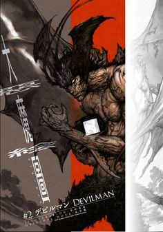 Katsuya Terada illustration of Devilman