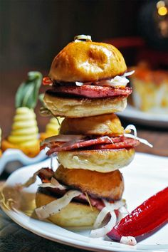 Ham Hock Sausage Sliders at Butterfunk Kitchen in Windsor Terrace Brooklyn #soulfood
