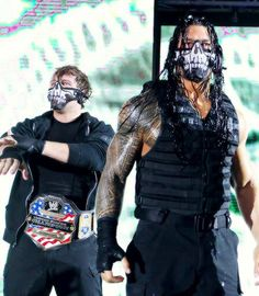 Dean Ambrose and Roman Reigns in The Shield Masks Roman Reigns Dean Ambrose, Roman Regins, The Shield Wwe, Wwe Roman Reigns, Wwe Tna, Wwe World, Cool Monsters, Wrestling Wwe, Thing 1